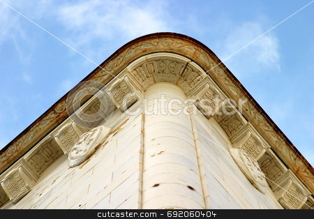 Corner Building stock photo, Corner of a tall building by Henrik Lehnerer