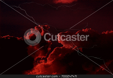 Red Sky at Night stock photo,  by J. Gracey Stinson