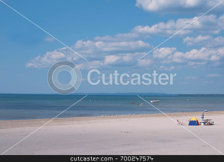 Beach Tent on Seashore stock photo,  by J. Gracey Stinson