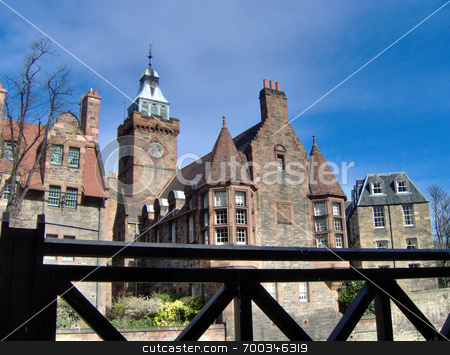 Edinburgh UK village houses stock photo,  by Alexander Wilson