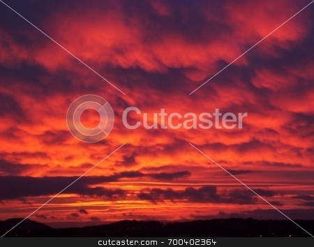 Red Sky at night stock photo,  by Alexander Wilson