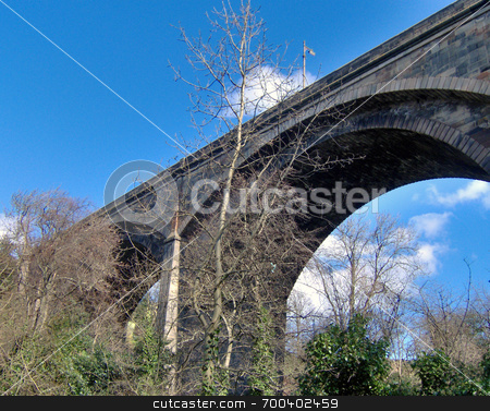 Edinburgh old stone Dene bridge stock photo,  by Alexander Wilson