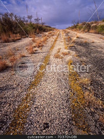 Abandoned Highway stock photo, An abandoned highway in west Texas. by Mike Norton