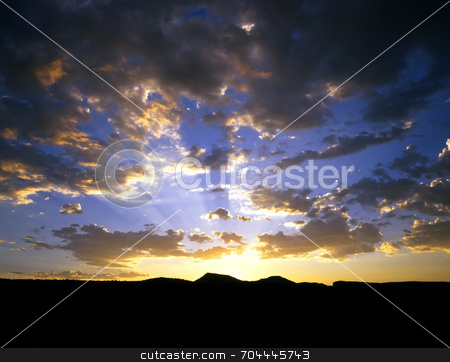 Colorado Sunset stock photo, A sunset in Colorado. by Mike Norton