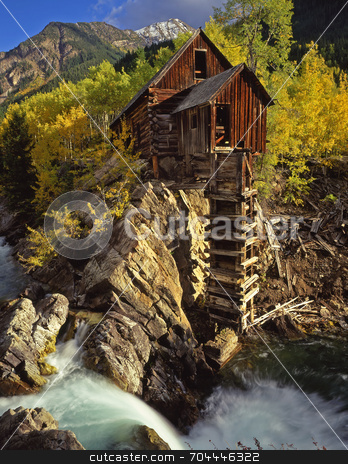 Crystal Mill stock photo, An old silver mill in Colorado. by Mike Norton