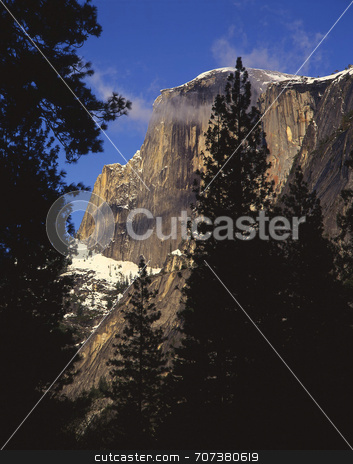 Half Dome stock photo, Half Dome in Yosemite National Park, California. by Mike Norton