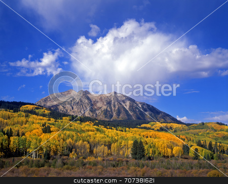 Kebler Pass stock photo, West Beckwith Mountain along the Kebler Pass Road in Colorado. by Mike Norton