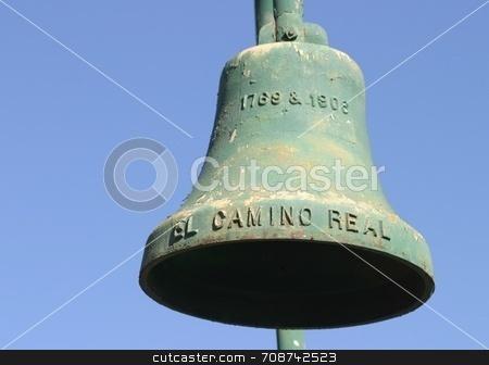 El Camino Real Bell stock photo, El Camino Real Bell along the El Camino Real in California 1769 & 1906 by Henrik Lehnerer