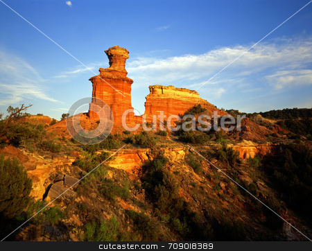 Lighthouse Formation stock photo, The Lighthouse Formation in Palo Duro Canyon State Park located in Texas. by Mike Norton