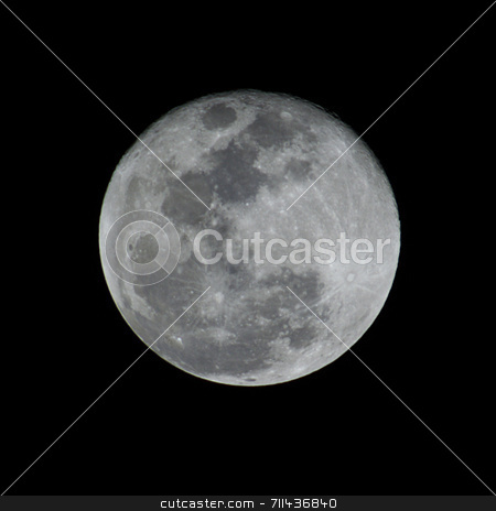 Full Moon stock photo, A detailed full moon. You can see all craters and details. by Daniel Wiedemann