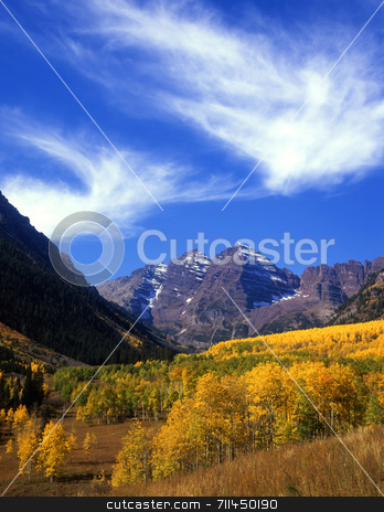 MN0098MaroonValley stock photo, The Maroon Bells in the White River National Forest of Colorado. by Mike Norton