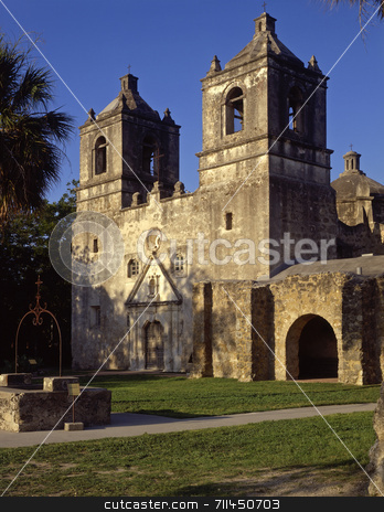 Mission Concepcion stock photo, Mission Concepcion, part of the San Antonio Missions National Historic Park in San Antonio, Texas. by Mike Norton