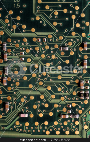 Circuits stock photo, An electronic circuit board by Stephen Gibson