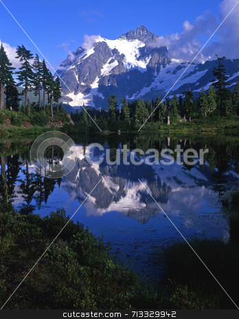 Mt. Shuksan stock photo, Mt. Shuksan in North Cascades National Park located in Washington State. by Mike Norton