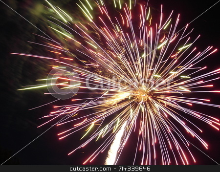 Fireworks stock photo,  by William Parmentier