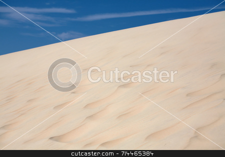 Sand Dunes stock photo, Sand dunes with a nice blue sky and white clouds! by Daniel Wiedemann