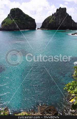 Two Brothers Hill stock photo, The Two Brothers Hill in Fernando de Noronha, Brazil. by Daniel Wiedemann