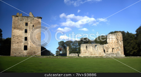 Spynie Palace stock photo, Spynie Palace, near Elgin in the north of Scotland. by Daniel Wiedemann