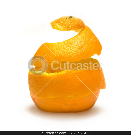 Reconstruction of Life stock photo, An orange peel being reconstructed! by Daniel Wiedemann