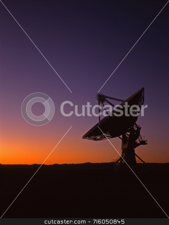Radio Telescope stock photo, A radio telescope part of the VLA, Very Large Array, in New Mexico. by Mike Norton