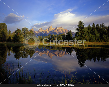 Schwabackers Landing stock photo, Schwabackers Landing in Grand Teton National Park, Wyoming. by Mike Norton
