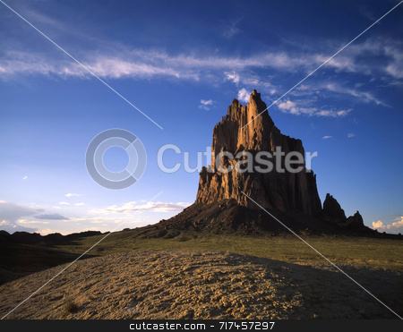 Shiprock stock photo, Shiprock in northwest New Mexico. by Mike Norton