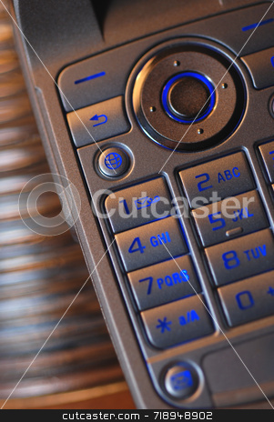 Cell Phone stock photo, Close up of the keyboard on a cell phone by Maria Bell