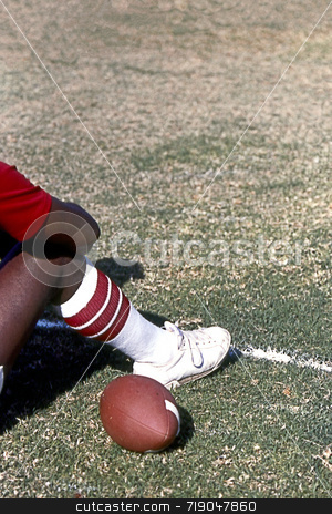 Resting Football stock photo,  by Marlene Cabais