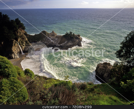 McWay falls stock photo, McWay Falls in Julia Pfeiffer Burns State Park, California. by Mike Norton