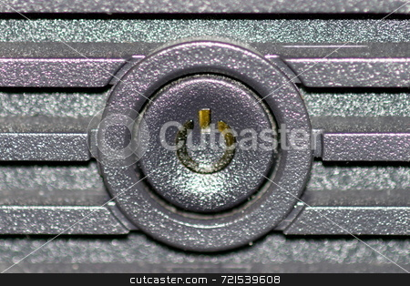 On Off button stock photo, Black on and off button from the front of a computer by Henrik Lehnerer