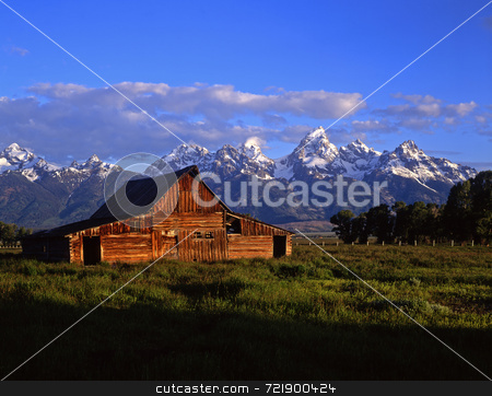 Teton Barn stock photo, A barn in Grand Teton National Park, Wyoming. by Mike Norton