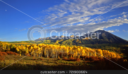 West Beckwith Mtn stock photo, West Beckwith Mountain, in the Gunnison National Forest of Colorado, photographed during the autumn season. by Mike Norton
