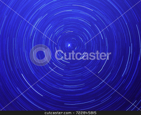 Stars Circles stock photo, Stars blured into circles in the night sky. by Mike Norton