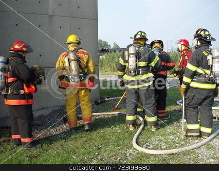Fire Academy 1 stock photo,  by Mark Bernas