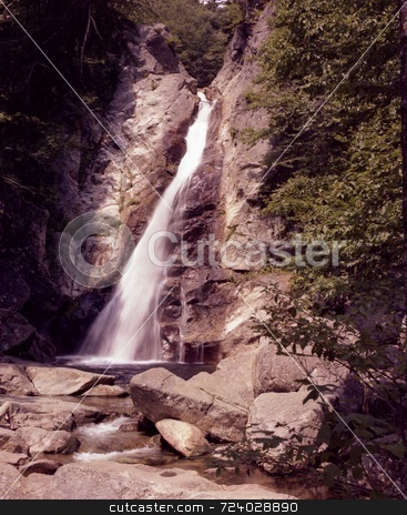 Roaring Falls stock photo, Image of a high falls on the Cabot Trail in Nova Scotia, Canada by Ray Carpenter