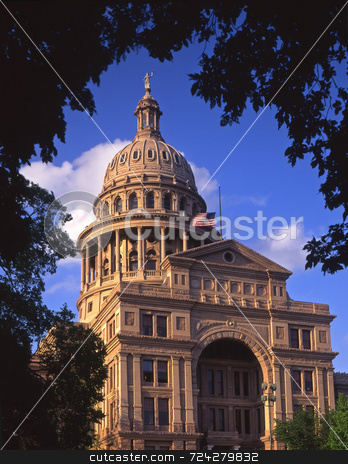 Texas Capitol Daytime stock photo, The Texas State Capitol Building in Austin, Texas. by Mike Norton