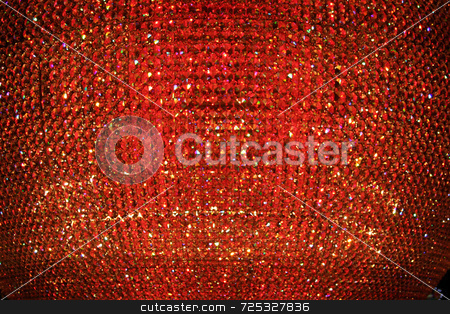 Abstract Red Crystal Background stock photo, A abstract red crystal bead background or texture. by Kevin Tietz