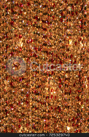 Abstract Brown Crystal Background stock photo, A abstract brown crystal bead background or texture. by Kevin Tietz