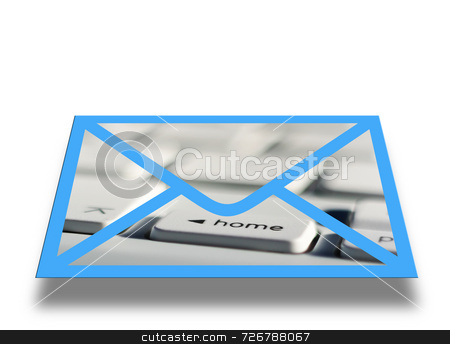 Electronic mail stock photo, Conceptual image illustrating computer email communications by Ronald Hudson
