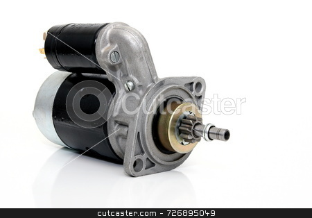 Starter stock photo, Auto parts starter for a classic  vw beetle by Jack Schiffer