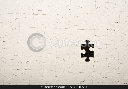 Missing puzzle piece stock photo, Missing puzzle piece by Jon Stokes