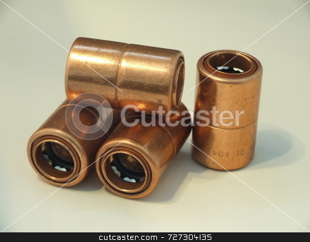Copper conectors stock photo,  by Stephen Rothwell