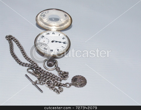 Open pocket watch stock photo,  by Stephen Rothwell