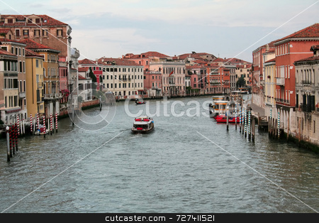 Venice Grand Canal stock photo, A shot down the center of Venice Grand Canal by Kevin Tietz