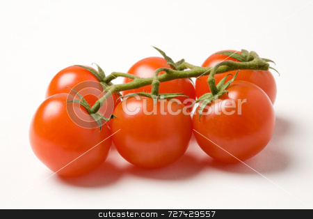 Cherry tomatoes on the vine stock photo, Cherry tomatoes on the vine by Jon Stokes