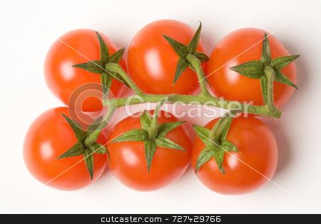 Cherry tomatoes  stock photo, Cherry tomatoes on the vine by Jon Stokes