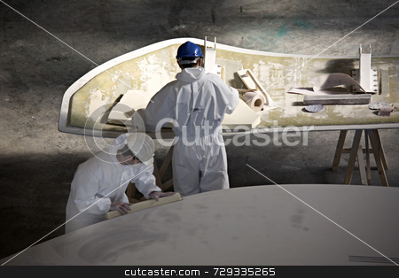 Men at work stock photo,  by Luca Mosconi