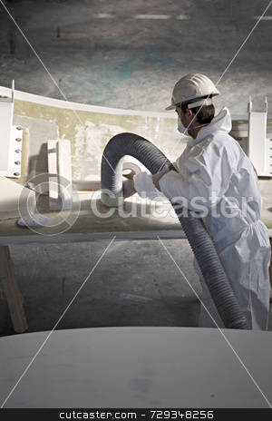 Man at work stock photo,  by Luca Mosconi