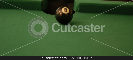 Eight ball side pocket stock photo, A game of pool with a shot lined up by Tim Markley