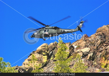 Air rescue stock photo, Air rescue by helicopter in the mountains at high altitude by Lynn Bendickson